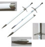 Medieval Chivalry Crusader Knight Sword With White Scabbard