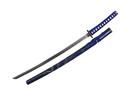 Blue Katana Sword with Dragon Engraved Scabbard