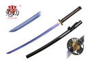 Onikiri Full Tang Sapphire Blade Japanese Katana Sword with Warrior Tsuba