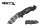 "Wartech 8"" Assisted Opening Rescue Folding Knife with G10 Handle - YCS7013G10"