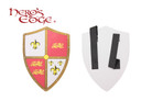 Foam Medieval Royal Crusader Three Lion Foam Shield for Cosplay and Larp