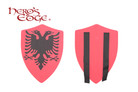 Foam Medieval Royal Crusader Twin Eagle Foam Shield for Cosplay and Larp
