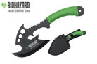 "12"" Zombie BIOHAZARD Throwing Axe Tactical Hunting Hatchet Survival Knife"