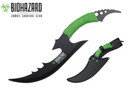 "14.75"" Zombie BIOHAZARD Throwing Axe Tactical Hunting Hatchet Survival Knife"