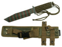 "12"" Tactical Hunting Knife 7"" Camouflage Blade. Full Tang, Cord Wrapped Handle with Nylon Sheath"