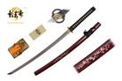 "41"" Kagemusha Hand Forged Damascus Blade Samurai Sword with Burgundy Scabbard"