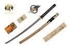 "41"" Kagemusha Hand Forged Damascus Blade Samurai Sword with Bamboo Scabbard"
