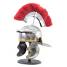 Roman Centurion Officer Helmet with Red Plume Armor SCA Adult Size