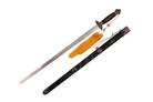 Spring Steel Jian Tai Chi Kung Fu Martial Arts Sword Black Scabbard