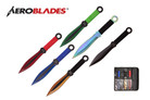 """9"""" 6 pcs Set Assorted Color throwing knife with 2 Tone Blade Thrower"""