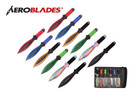 "9"" 12 Pcs Set Angel Baby Assorted Color Throwing Knife with 2 Tone Blade Thrower"