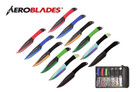 "9"" 12 Pcs Set Jack Ripper Assorted Color Throwing Knife with 2 Tone Blade Thrower"
