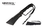 "15.5"" Tactical Equlizar Hunting Machete Black Knuckle Handle"