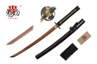"32"" Japanese Sword Wakizashi 1045 Rose Gold Carbon Steel with Black Scabbard"