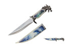 "13.5"" Dragon Head Fantasy Dagger With Sheath"