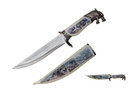 "13.5"" Wolf Head Fantasy Dagger With Sheath"