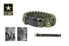 "10"" Official License Army Survival Paracord Bracelet with Whistle Buckles"
