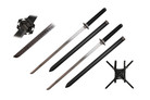 """39"""" 2 Back Carrying Sword Set w/ Back Scabbard"""