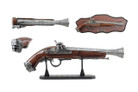 """14"""" Decoration Antique Gun Model with Stand and Plaque"""