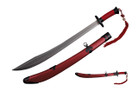 Chinese Broad Sword With Stainless Steel Blade and Tassels - Red