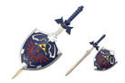 Blue Zelda Shield with Sword
