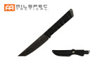 "10"" Stonewashed Tanto Blade w/ Black G10 Handle Knife"
