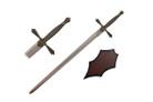 "43"" Medieval Sword w/ Wooden Plaque"