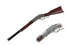 "38"" Length, Rifle Replica, Wood Handle."