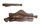 """15"""" Decoration Antique Gun Model w/ Wooden Plaque"""