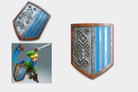 "Zelda Link's Hylian 22 3/4"" x 17 3/4"" Poly Resin Shield"