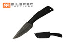 "8.5"" Tactical Knife w/ Black G10 Handle, Stonewashed Blade w/ Hard Sheath"