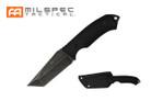 """8.5"""" Tactical Knife Black G10 Handle, Stonewashed Blade w/ Hard Sheath"""