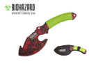 "11"" Biohazard Zombie Survival Axe Green Cord Wrapped - SRD"