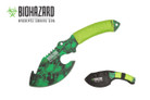 "11"" Biohazard Zombie Survival Axe Green Cord Wrapped - SGN"