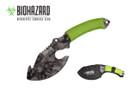 """11"""" Biohazard Zombie Survival Axe Green Cord Wrapped - SGY"""