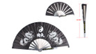 "13 1/2"" X 26"" Steel Black Kung Fu Fan"