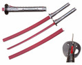 """41 1/2"""" Fantasy Sword Red Blade + Red Hamon and Metal Handle"""