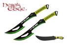 "2 PCS SET 24"" 440 Stainless 2 Tone Blade Sword w/ Sheath - Green"