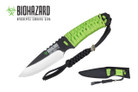 "8"" Zombie Hunting Knife w/Green Cord Wrapped Handle"