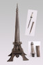 "15"" Paris Eiffel Tower Letter Opener Fantasy Dagger Gift Knife w/ Display Stand"