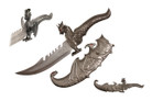 "15"" Dragon Fantasy Knife w/ Scabbard"