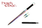 """27"""" Stainless Rainbow Sword w/ 2 Pieces of 5"""" Throwing Knives"""