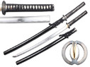 Hand Honed Katana with Black Saya