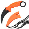 "8"" Military Tactical Karambit Hunting Skinner Hawkbill Neck Knife Claw - Orange"