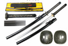 "41 1/2"" Hand Forged Samurai Katana 1095 High Carbon Steel Shinogi Zukuri Blade Real Hamon & Temper Line"