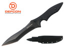"Defcon Knife 10.8"" D2 Tool steel Full Tang Fixed Blade with Snap Sheath - TD001BK"