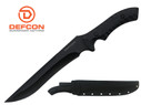 "Defcon Knife 14.5"" D2 Tool steel Full Tang Fixed Blade with Snap Sheath - TD003BK"