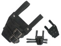 "6""X4"" Belt Attachment Dagger Frog w/ 2 Securing Straps Black"