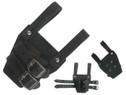 "6""X4"" Belt Attachment Dagger Frog w/ 2 Securing Staps Black"