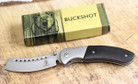Buckshot Knives Thumb Open Spring Assisted Cleaver Classic Pocket Knife - PBK219BK